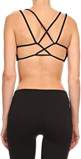 product image for Dippin' Daisy's Solid Black Women's Waterfall Strap Sports Bra (Includes Bra Cups)
