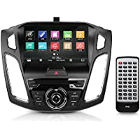 2015/2016 Ford Focus Console Receiver Stereo System, 9'' HD Touchscreen, GPS Navigation, Bluetooth Wireless, CD/DVD Player, AM/FM Radio, Single DIN (PFOCUS16)