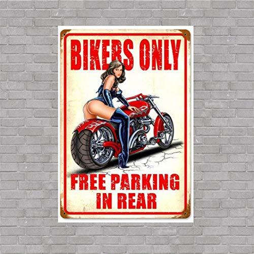 Motorcycle Biker Metal Sign - 7