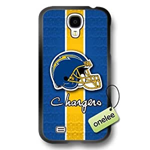 NFL San Diego Chargers Logo Samsung Galaxy S4 Black Rubber(TPU) Soft Case Cover - Black