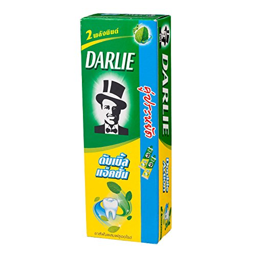 Darlie 2 Mint Powers Plus Fluoride Protection Double Action Toothpaste Twin 170 g.