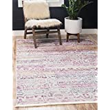 Unique Loom Baracoa Collection Bright Tones Vintage Traditional Pink Area Rug (10' x 13')