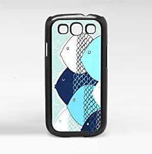 Dark Blue and Light Blue Fish Hard Snap on Phone Case (Galaxy s3 III)