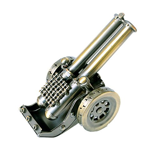 (Lchen Vintage Cannon Metal Model Mini Military Artillery Model for Home Study Room Decorations (7)