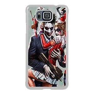 Newest Samsung Galaxy Alpha Case ,Joker And Harley Quinn White Samsung Galaxy Alpha Screen Phone Case Popular Fashion And Durable Designed