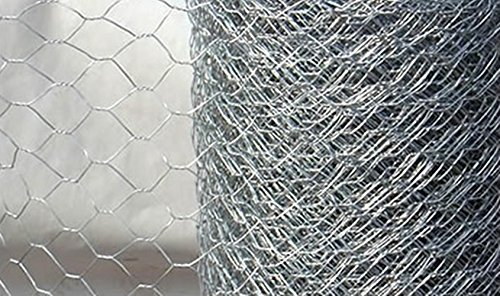10m roll of 1.2m (4ft) tall 25mm super strong Hexagonal Galvanised wire chicken rabbit mesh netting. Ideal for: Chicken runs, fence, rabbit proofing, Coops, Pet Enclosures, Dogs, Garden Fencing, Boundary Fences, Poultry Fencing, Aviaries. Galvanized Steel