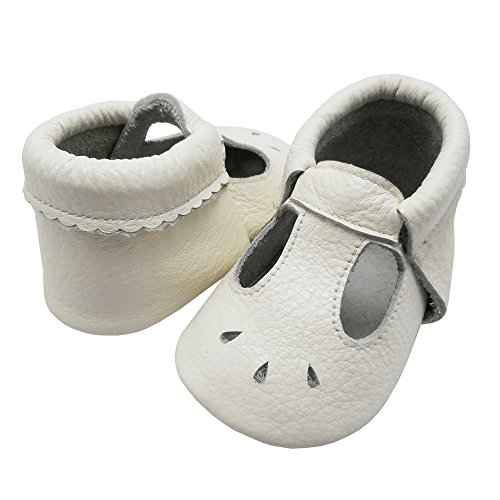Mejale Baby Sommerschuhe Soft Soled Leder Sandalen Infant Walker Sandals Weiß
