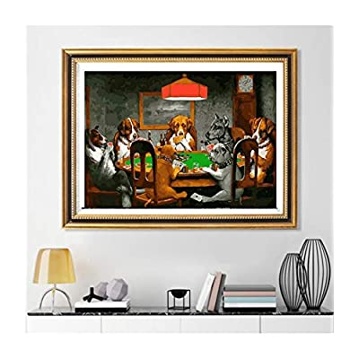 Classic Jigsaw Puzzles 1000 Pieces Adults Puzzles Wooden Puzzles Dogs Playing Poker DIY Modern Home Decor 30X20 Inch/75X50Cm: Toys & Games
