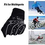 Lightweight Thermal Running Gloves, Touchscreen Outdoor Riding Gloves for Men Women