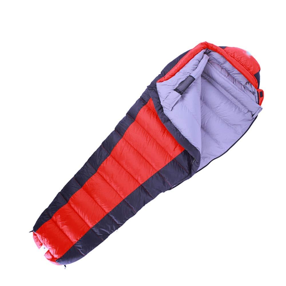 Schlafsack - 320T40D Nylon-Diamantgitter, tragbarer ultradünner Outdoor-Daunenschlafsack für Erwachsene, geeignet für  Mittagspause im Innenbereich, Outdoor-Aktivitäten - 2 Farben und 3 Stärken zur Au
