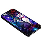 Sailor Moon LUNA & ARTEMIS cat Galaxy Nebula Design For iPhone Case Phone 5c (iPhone 6 black)