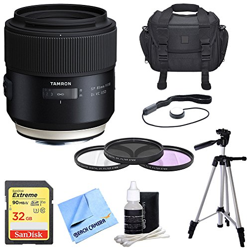 - Tamron SP 85mm f1.8 Di VC USD Lens for Canon Full-Frame EF Mount Cameras Includes Bonus UV Filter kit and More