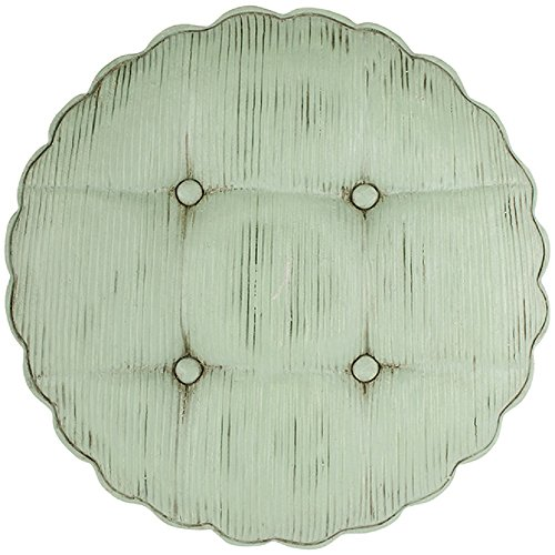 Carson Round Corduroy 1 inch Depth x 12.25 inches Diameter Cement Garden Stone Decoration Corduroy Accents