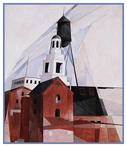 Orenco Originals Pennsylvania Church Cubist Precisionism American Artist Charles Demuth Counted Cross Stitch Pattern