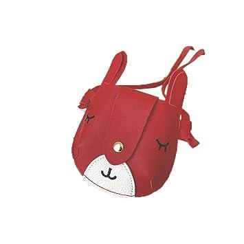 25c417123aad Amazon.com: Little Girls Bag Mini Purse Cute Fox Animal Crossbody ...
