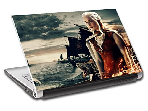 Game Of Thrones Khaleesi Personalized LAPTOP Skin Decal Vinyl Sticker NAME L749, 15.6'' by Dizzy