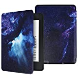 Aimerday Folio Kindle Paperwhite Case,Painting PU Leather Magnetic Cover with Auto Wake / Sleep for All-new Amazon Kindle Paperwhite Generation (Fits All 2012, 2013, 2015 and 2016 Versions),Galaxy