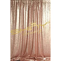 ShinyBeauty Blush Sequin Photography Backdrop, 10FTx10FT Sequin PhotoBooth Backdrop, Wedding Ceremony Backdrop