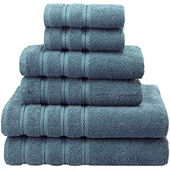 Premium, Luxury Hotel & Spa Quality, 6 Piece Kitchen and Bathroom Turkish Towel Set, Cotton for Maximum Softness and Absorbency by American Soft Linen, ...