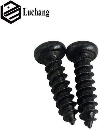 Luchang Lot de 1000 vis /à t/ête cylindrique micro croix ronde Noir