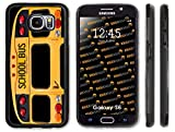 Rikki Knight Back of A Yellow School Bus Case Cover with Front Bumper Protection for Galaxy S6 - Black