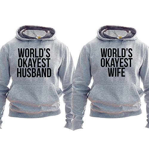 Worlds Okayest Husband Pullover Worlds Okayest Wife Pullover Gift For Husband Gift For Wife Matching Family Outfit Unisex