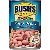 Gourmet Food : Bush's Best  Pinto Beans With Bacon, 15.5 oz (12 cans)