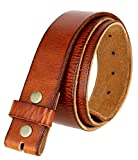 BS-40 Vintage Style Full Grain 100% Leather 1-1/2 Wide Belt Strap (Tan, 42)