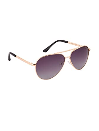 78dbb1595d 6by6 Polarized Gold   Purple Aviator Big sized Metal Sunglasses for Men    Women  Amazon.in  Clothing   Accessories