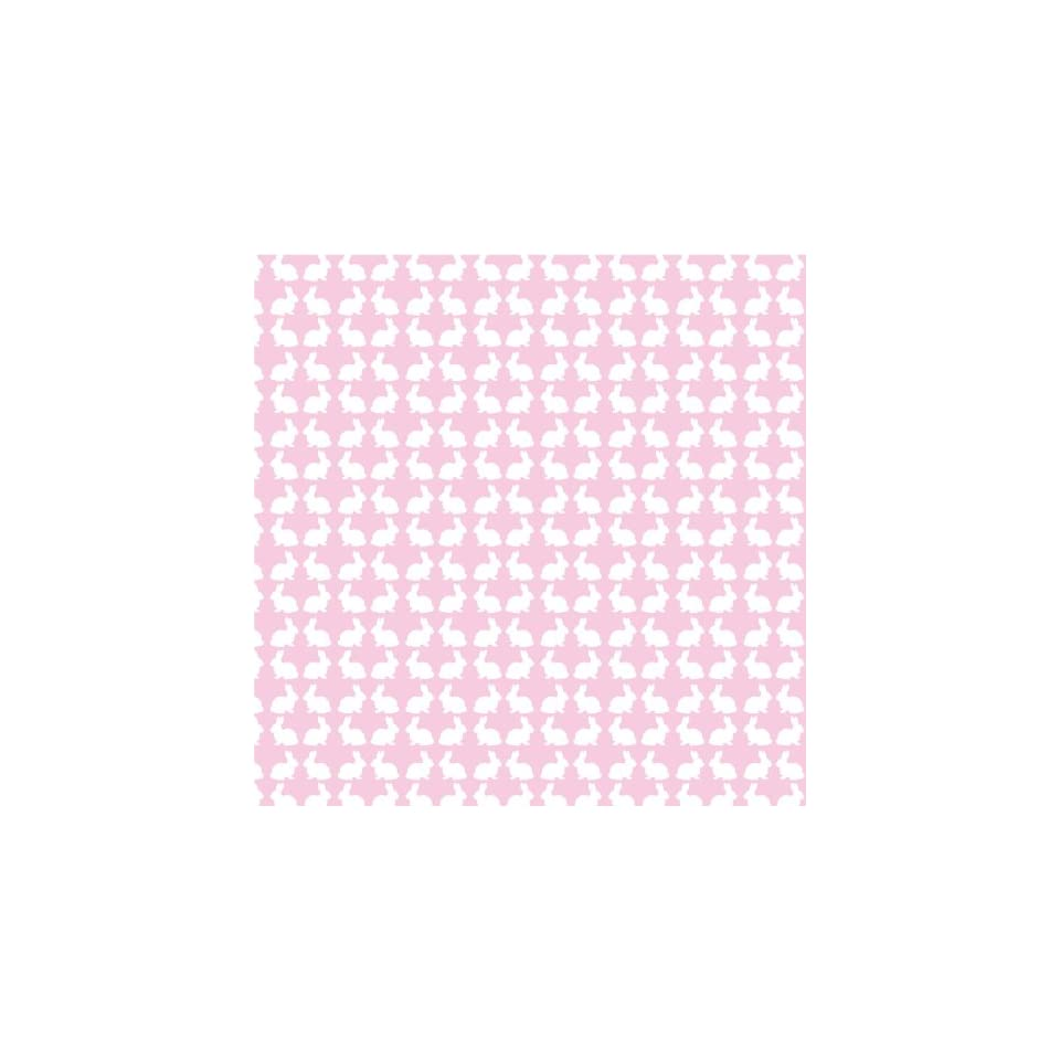 BUNNIES PASTEL PINK & WHITE Vinyl Decal Sheets 12x12 x3 Great for Cricut or Silhouette Crafting
