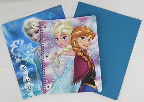 [Disney Frozen Notebook with a Portfolio Folder and a Blue Staples Folder (Anna and Elsa)] (Girl Grinch Costume)