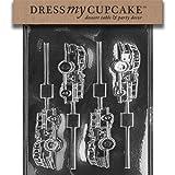 Dress My Cupcake Chocolate Candy Mold, Fire Truck Lollipop
