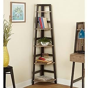 Amazon Com Simple Living Rustic Lana Corner Shelf
