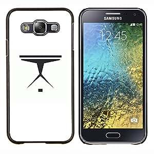 LECELL--Funda protectora / Cubierta / Piel For Samsung Galaxy E5 E500 -- Nave espacial minimalista --
