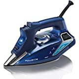 Rowenta DW9280 Steam Force 1800-Watt Professional Electronic Steam Iron with Stainless Steel Soleplate, 400-Hole, Blue
