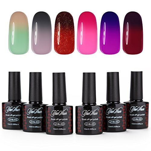Yaoshun Soak Off Gel Nail Polish Temperature Color Changing