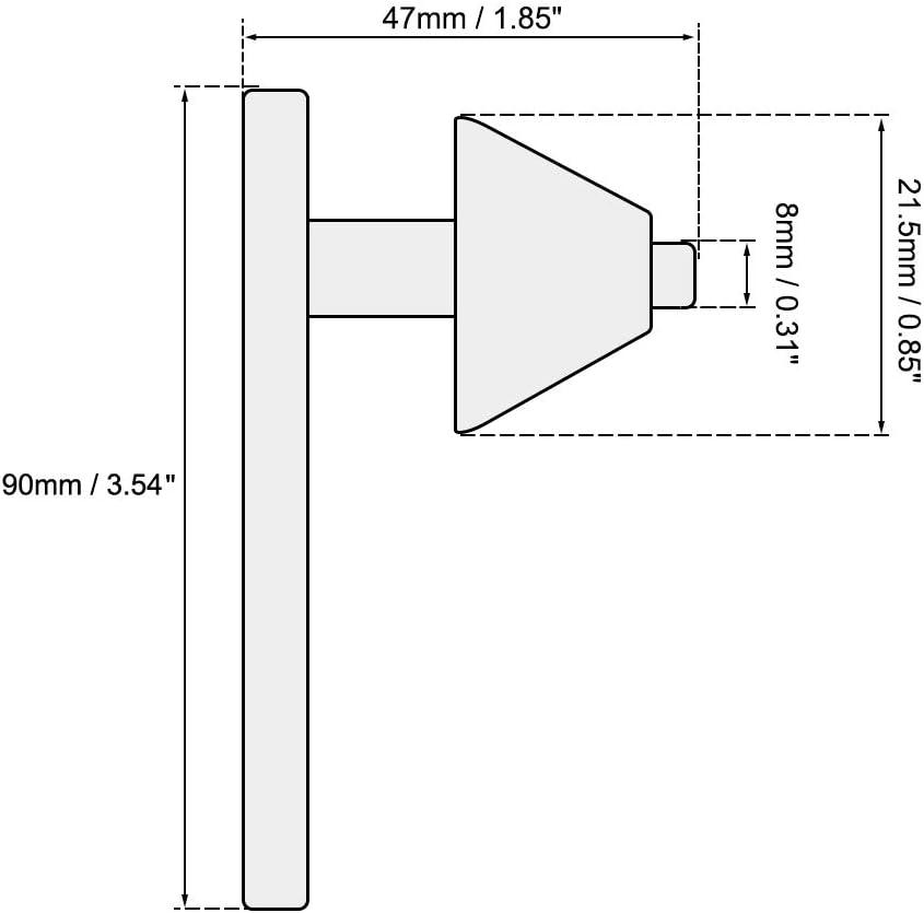 uxcell/® Chuck Key 5mm Pilot 11 Teeth for 0.6-6mm Drill Chuck Black