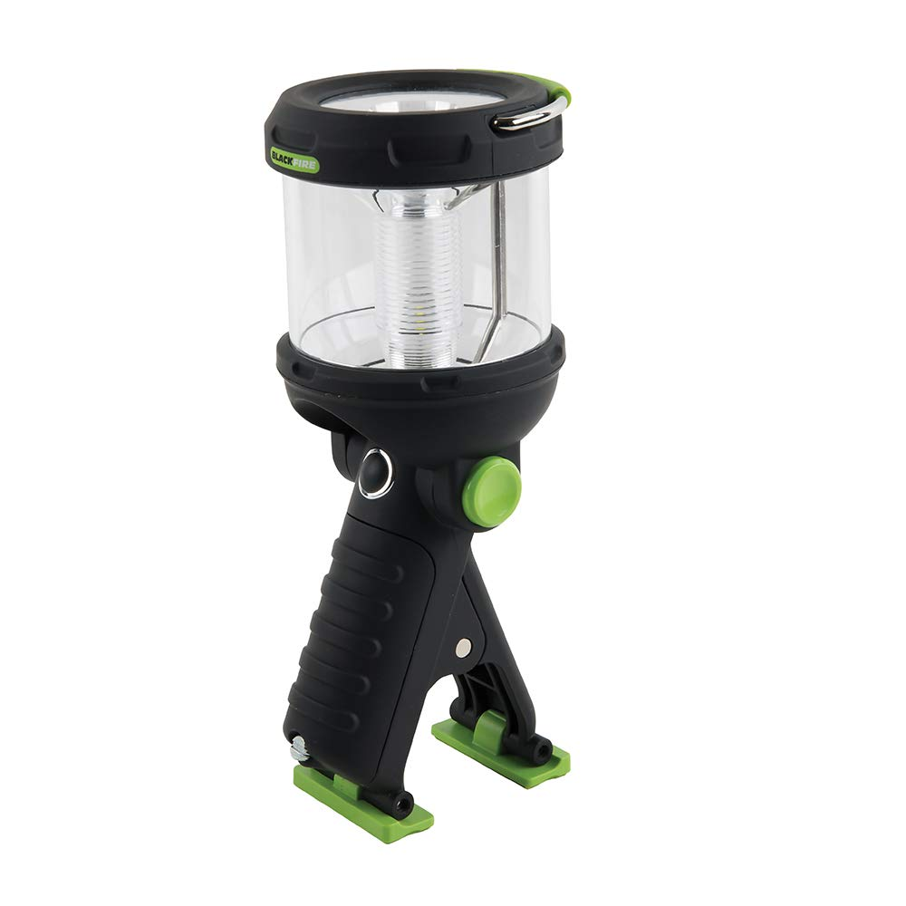 Lantern Flashlight Clamp Light, 230 Lumen LED, Water Resistant, for Camping, Outdoors, more Blackfire BBM910