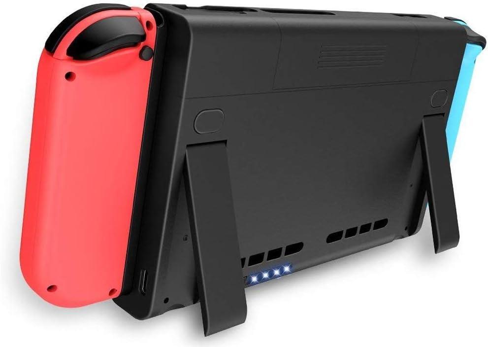 Carcasa para Nintendo Switch, batería de 6500 mAh, Cargador portátil, batería extendida, batería Recargable, batería de Repuesto para Nintendo Switch: Amazon.es: Electrónica