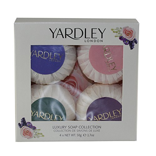 (Yardley London Mixed 4 x Luxury Soap Collection - In English Lavender, Rose, Lily of the Valley and April Violets by Yardley)