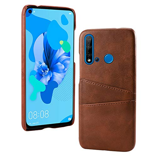 Style Custom Card Folio - Totoose Wallet Case Compatible with Huawei P20 Lite (2019), [Folio Style] Premium Card Cases Stand Feature Wallet Flip Cover for Huawei P20 Lite (2019) [Dark Brown]