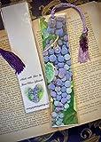 Succulent Red Wine Grapes of the Fingerlakes NY Bookmark w/ Grape Glass Lampwork Bead Fruit Vineyards Fine Art Photography Photo Laminated Handmade Bookmark
