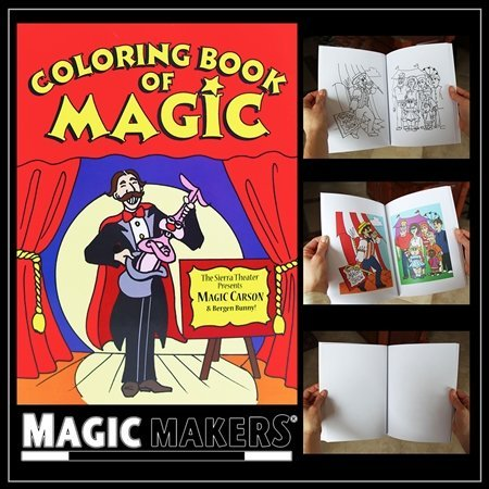Magic Coloring Book By Magic Makers - 8.5 x 11 Inches - The Most Popular Size]()