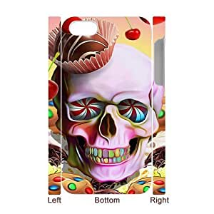 For Apple Iphone 4/4S Case Cover Colorful skeleton 3D Art Print Design Phone Back Case Use Your Own Ppopularo Hard Shell Protection FG044755