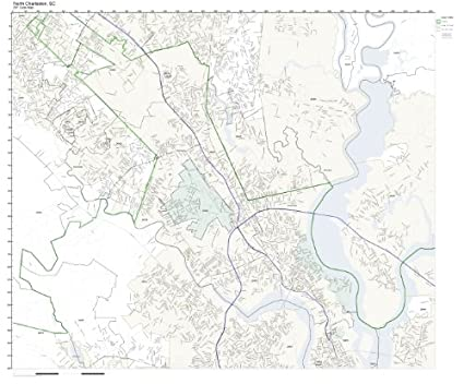 North Charleston Zip Code Map.Amazon Com Zip Code Wall Map Of North Charleston Sc Zip Code Map