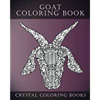 Goat Coloring Book: Goat Face Coloring Book, A Stress Relief Adult Coloring Book Containing 30 Pattern Coloring Pages