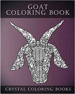 Goat Coloring Book Face A Stress Relief Adult Containing 30 Pattern Pages Volume 3 Animal Amazoncouk