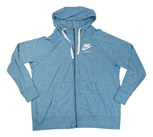 ze Sportswear Gym Vintage Hoodie Aqua 3X (Nike Womens Sportswear)