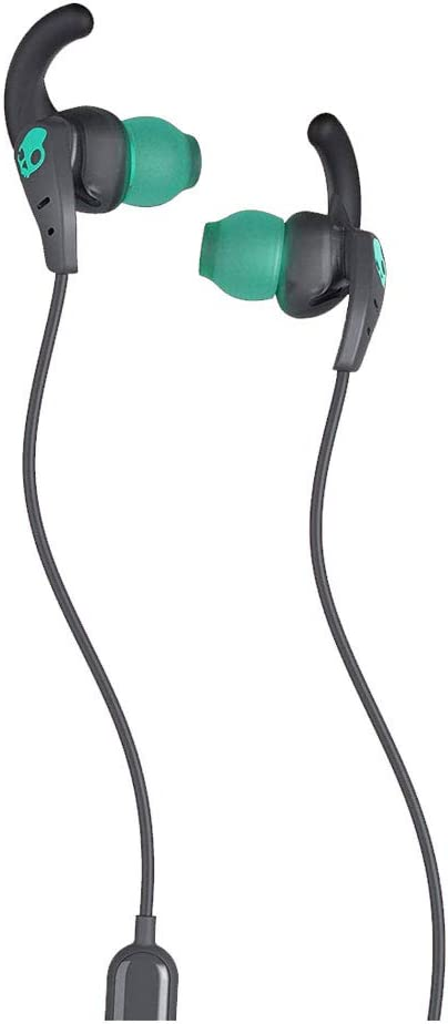 Skullcandy Set in-Ear Sport Earbuds with Microphone, Sweat and Water Resistant, Secure Fit, Noise Isolating, Call and Track Control, Gray Teal