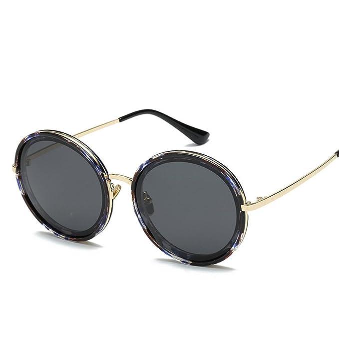 Gafas polarizadas de Europa y los Estados Unidos ronda Frame gafas de sol mujer espejo sombrilla